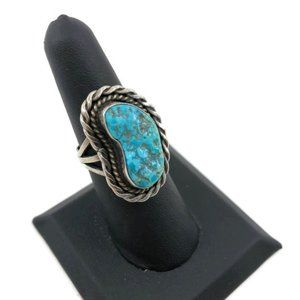 Native American Kingman Turquoise Sterling Ring